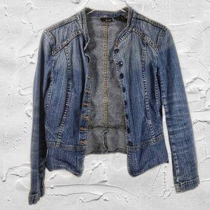 A.N.A Button Down Blue Jean Blazer Jacket Sz S